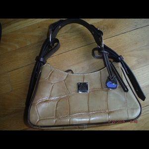 Dooney & Burke bucket hobo alligator leather purse